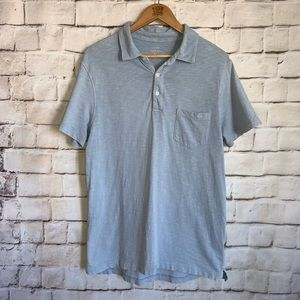 J Crew Shirt, Polo, Short Sleeve, Light Blue, L